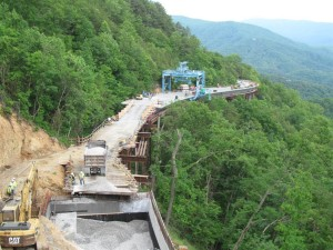 Construction of FOOT - Missing Link Bridge 2 with Gantry Crane
